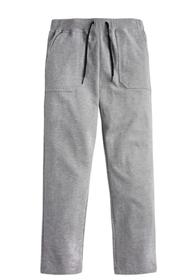 FabKids Jeans & Pants Grey Knit Relaxed Pant Boys Gray Size XL These cool and comfy pants are perfect for casual days! Complete with two kanga pockets and back pockets. An easy elastic waistband with faux drawstring detail on sizes medium and larger.
