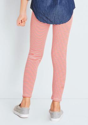 Fab Red Stripe Legging