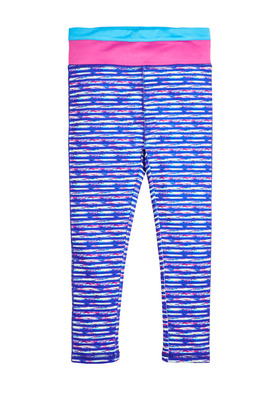 Pieced Waist Space Dye Active Legging