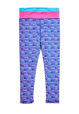 Pieced Waist Space Dye Active Legging