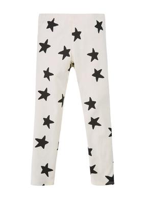 Fab White Star Legging