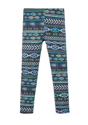 Fab Blue Tribal Legging