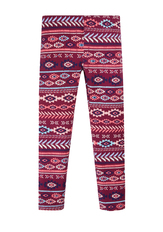 Fab Burgundy Tribal Legging