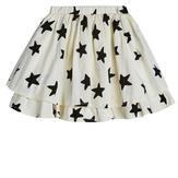 Star Print Tiered Knit Skirt
