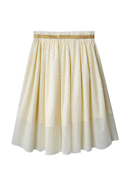 Gold Shimmer Tulle Skirt