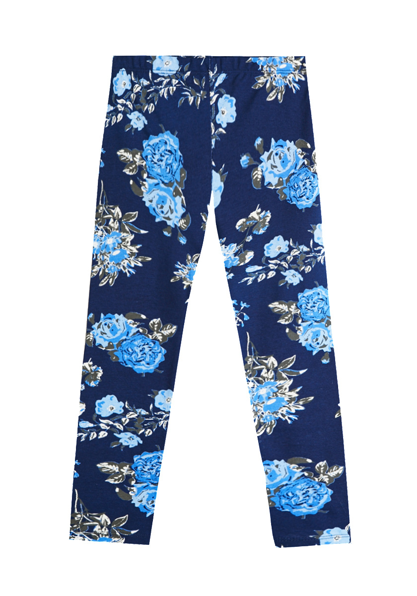 Stand out in our chic and exquisite Blue Floral Leggings. This elegant print can be dressed up or down for a lovely look that's perfect for any occasion.