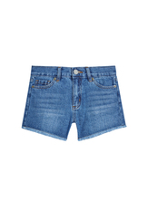 Denim Fringe Short