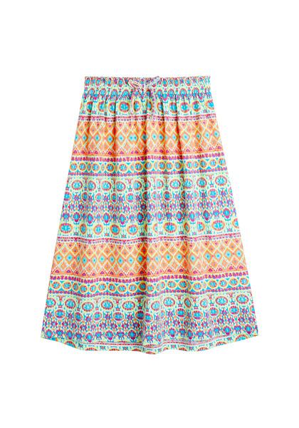 Geo Print Knit Maxi Skirt