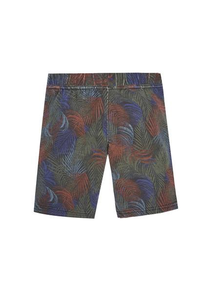 Palm Print Knit Short