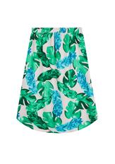 Palm Print Midi Skirt