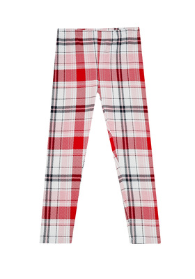Fab Red Plaid Legging