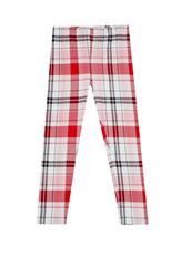 Fab Red Plaid Legging