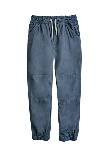 FabKids Jeans & Pants Woven Pieced Jogger Boys Gray Size XXS Comfy and stylish woven pant with side pockets, elastic waistband and cuffed pant legs. Loose fit around hips and skinny at ankle.