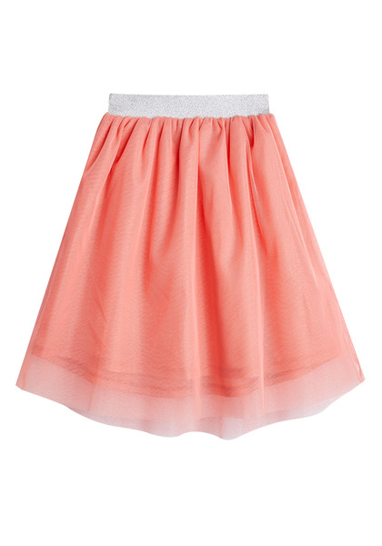 FabKids Skirts Peach Tulle Skirt Girls Peach Size XL On trend tutu skirt with elastic waistband and layers of tulle. Fully lined. Pair back to her favorite graphic tee or fashion knit top to complete her stylish look!