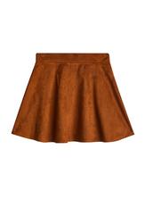 Suede Circle Skirt