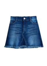 Frayed Hem Denim Skirt