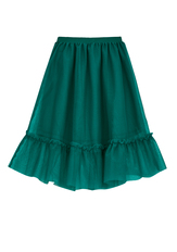 Tulle Overlay Tiered Skirt