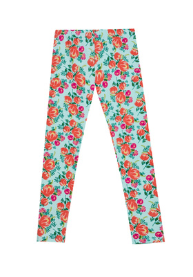 FabKids Leggings Fab Garden Floral Legging Girls Garden Floral Size S FabKids softest knit legging. Soft, lightweight jersey with added stretch. Perfect to wear under her favorite dress or tee!
