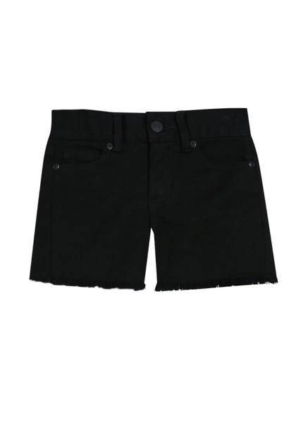FabKids Skirts Frayed Denim Short Girls Black Size 10 Look no further for her perfect, everyday denim short! In black, with fringe hem detail, these will quickly become an everyday fave.