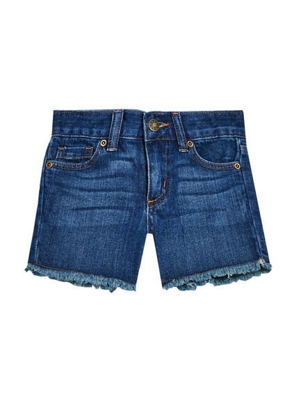 FabKids Skirts Frayed Denim Short Girls Medium Wash Size 02 Look no further for her perfect, everyday denim short! In a medium wash, with fringe hem detail, these will quickly become an everyday fave. These shorts run a bit small, we recommend sizing up!