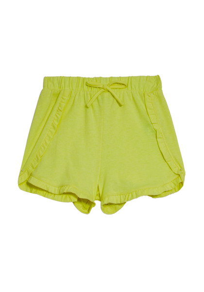 FabKids Skirts Knit Ruffle Hem Shorts Girls Yellow Size XS These knit shorts are sure to be her go to for all spring and summer activities. With a feminine ruffle detail and faux drawcord.