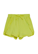 Knit Ruffle Hem Shorts