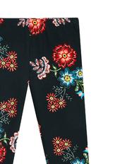 Fab Black Floral Print Legging