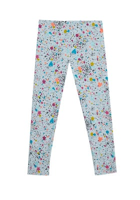 Fab Rainbow Heart Print Legging