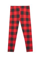 Fab Red Plaid Print Legging