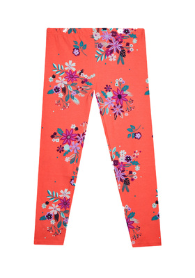 Fab Red Floral Print Legging
