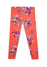 Fab Red Floral Print Legging