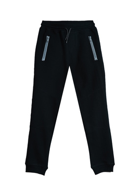 FabKids Jeans & Pants Sporty Jogger Boys Black Size XL Our joggers stand up to everyday tear while comfy enough for all-day wear. Features zipper pockets for activities. Elastic waistband and cuffed pant legs. Loose fit around hips and skinny at ankle.