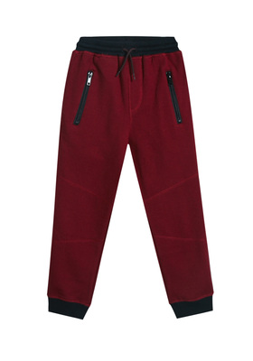 FabKids Jeans & Pants Sporty Jogger Boys Red Size XXS Our joggers stand up to everyday tear while comfy enough for all-day wear. Features zipper pockets for activities. Elastic waistband and cuffed pant legs. Loose fit around hips and skinny at ankle.