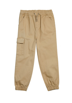FabKids Jeans & Pants Woven Cargo Jogger Boys Beige Size XL Our stylish joggers are made to stand up to everyday tear while comfy enough for all-day wear. Features cargo pocket and elastic waistband. Loose fit around hips and skinny at ankle.