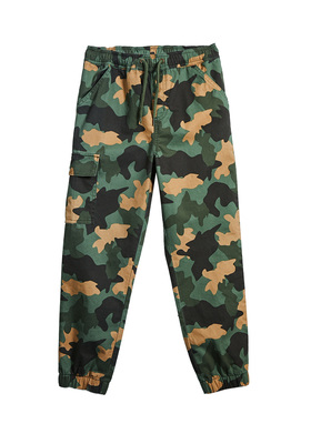 FabKids Jeans & Pants Woven Cargo Camo Jogger Boys Green Size XXS Our stylish joggers are made to stand up to everyday tear while comfy enough for all-day wear. Features cargo pocket and brushed bottom twill. Elastic waistband and cuffed pant legs for perfect fit. Loose fit around hips and skinny at ankle.