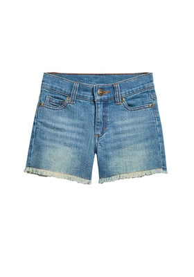 Frayed Denim Short