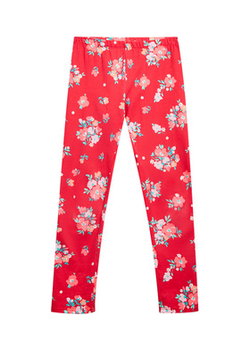 Fab Red Floral Legging