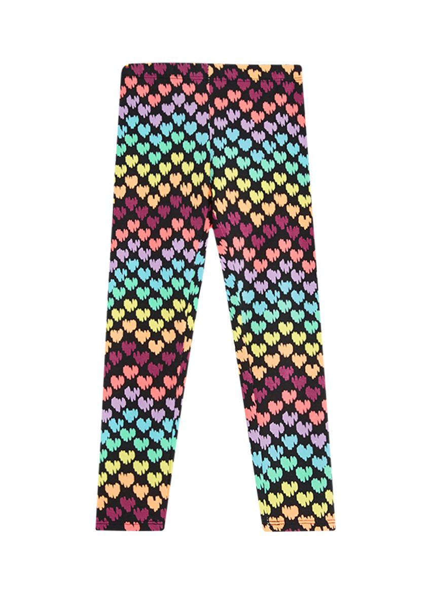 Fab Rainbow Heart Legging