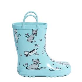 Blue Kittens Rainboot