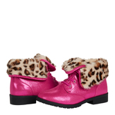 Leopard Faux Fur Boot