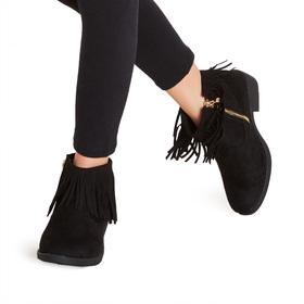 Fringe Ankle Bootie
