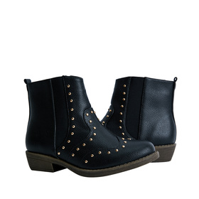 FabKids Shoes Studded Western Bootie Girls Black Size T8 Give her casual look some edge with these trendy Fabkids boots! Featuring stud detail and faux leather material for easy care!