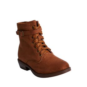 Buckle Lace Up Bootie