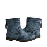 Woven Distressed Bootie