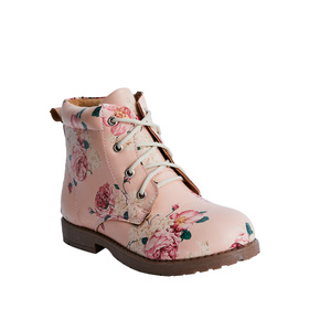 Lace Up Floral Boot
