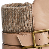Sweater Buckle Bootie