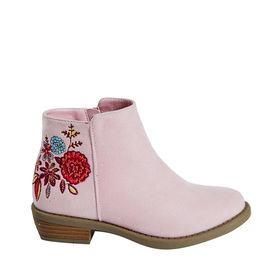 Floral Embroidered Bootie