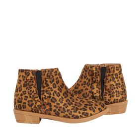 Cheetah Ruffle Bootie