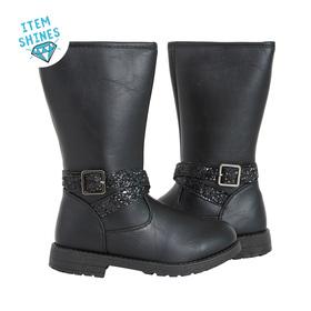 Glitter Strap Boot