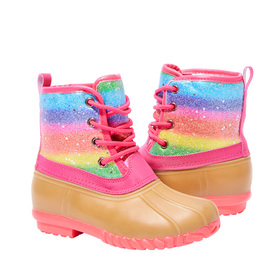 Lace Up Sparkle Rain Boot